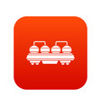 rail wagon for cement icon digital red vector image vector image