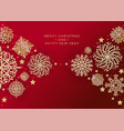red christmas background with border made vector image