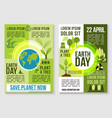 save earth nature and plant tree templates vector image vector image
