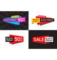 set of black friday bf sale signs banners posters vector image vector image