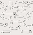 Set of design elements banners ribbons vector image