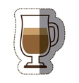 silhouette color sticker with coffee cocktail vector image vector image