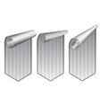 Silver stickers set vector image vector image