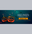 spooky halloween pumpkins with bats and ghost vector image vector image