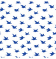 spring swallow birds seamless pattern with birds vector image