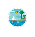 Summer vacation logo creative vector image