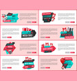super sale online banners gift boxes and basket vector image vector image