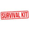 survival kit grunge rubber stamp vector image