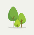 trees in flat style vector image