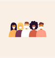 trendy people with masks vector image