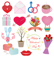Valentines Day Icons Ornament Set vector image vector image