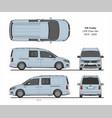 vw caddy life maxi crew van 2015-present vector image vector image