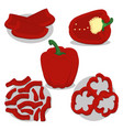 whole ripe vegetables pepper vector image vector image