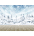winter snowy background with forest vector image vector image