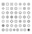 aim target icons set simple style vector image