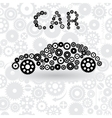 car from gears vector image