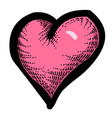 cartoon image of heart icon love symbol vector image