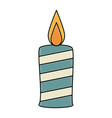 paraffin candle isolated icon vector image