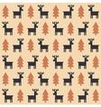 Christmas deer pattern vector image