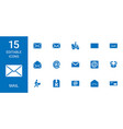 15 mail icons vector image vector image