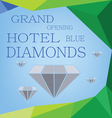 Abstract design for diamond hotel grand opening vector image