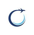 airplane icon design vector image vector image