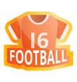 american football jersey logo cartoon style vector image