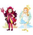 angel and imp girls vector image