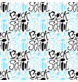 back to school seamless pattern handwritting vector image vector image