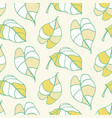 beautiful tropical leaves seamless pattern vector image