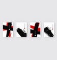 black ink brush stroke vector image vector image