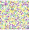 Bright abstract dot mardi gras pattern vector image vector image