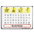 Business hand drawing line icons vector image vector image
