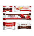 candies packaging realistic set vector image