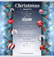christmas decoration billboard with firtree vector image vector image