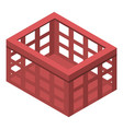 Clothes red basket icon isometric style