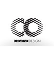 co c o lines letter design with creative elegant vector image vector image