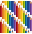 colored rainbow pencils seamless pattern vector image vector image