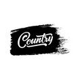 country music musical hand drawn lettering vector image vector image