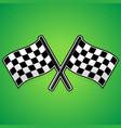 crossed racing flags vector image