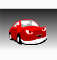 devil monster cartoon red car cute vector image