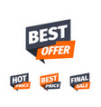 discount stickers set with different text sale vector image vector image