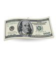 Dollars with clip vector image vector image