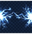 Electrical discharge with lightning beam isolated vector image