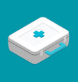 flat first aid kit isolated on color background vector image vector image