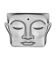 gray abstract 3d lines buddha face statue vector image