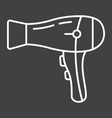 hair dryer line icon household and appliance vector image