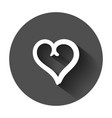 hand drawn hearts icon love sketch doodle heart vector image vector image