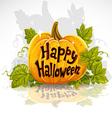 Happy Halloween cut out pumpkin banner vector image vector image