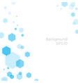 hexagonal background science and technology vector image vector image